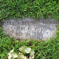 """Patricia Raye """"Pat"""" <I>Hemphill</I> Brown"""