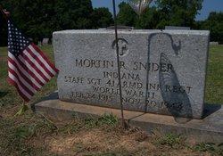 Sgt Mortin R. Snider