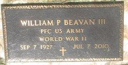 William p Beavan, III
