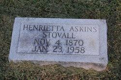 Henrietta <I>Askins</I> Stovall