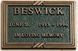 June Stewart <I>Stewart</I> Beswick