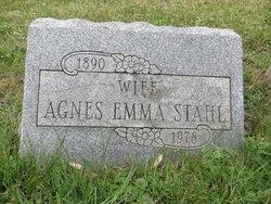 """Emma Agnes """"Agnes"""" <I>Portmann</I> Stahl"""