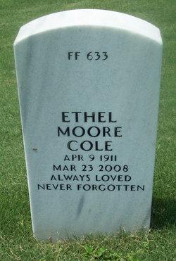 Ethel <I>Moore</I> Cole