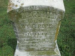 Mary M <I>Dice</I> Pope