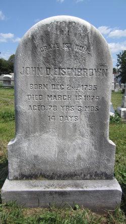 "Johann Daniel ""John"" Eisenbrown"