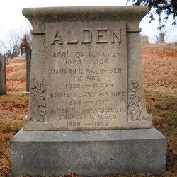 Annie Macy <I>Clark</I> Alden