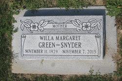 Willa Margaret <I>Green</I> Snyder
