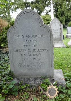 Emily Anderson <I>Walton</I> Holloway