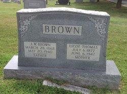 Elizabeth <I>Thomas</I> Brown