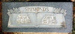 Sarah Ann <I>Battison</I> Simmonds