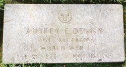 """SGT Aubrey E """"BUD"""" Denny"""