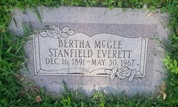 Bertha May <I>McGee</I> Everett