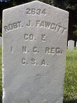 Pvt Robert J Fawcitt
