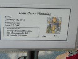 Willie Jean <I>Berry</I> Manning