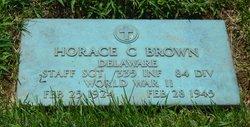 Sgt Horace Carl Brown