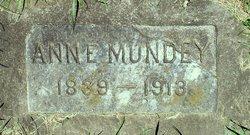 Ann Eliza <I>Gassman</I> Mundey