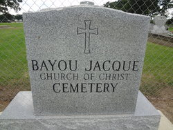 Bayou Jacque Church of Christ Cemetery