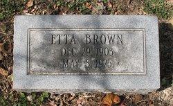 Etta <I>Van Dorn</I> Brown
