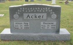 "Dorrene ""Tootsie"" <I>Browning</I> Acker"