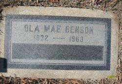 Ola Mae <I>Hicks</I> Benson