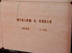Miriam Georgia <I>Lyles</I> Aaron