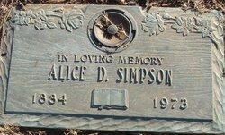Alice Catherine <I>Dulin</I> Simpson