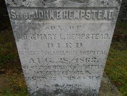 Sgt John E Hempstead