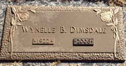 Mrs Wynelle Frances <I>Bagwell</I> Dimsdale