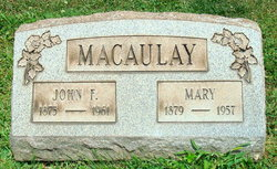 Mary Catherine <I>Ford</I> Macaulay