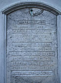 "Caroline ""Carrie"" <I>Marshall</I> Bives"