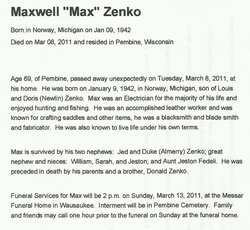Maxwell G Zenko