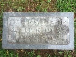 Edith <I>Bivins</I> Baldinger