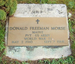 Pvt Donald Freeman Morse