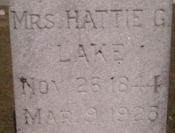 "Harriet G. ""Hattie"" <I>Blake</I> Lake"