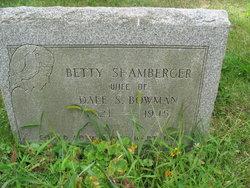 Betty <I>Shamburger</I> Bowman