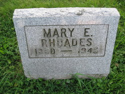 "Mary Elizabeth ""Nellie"" <I>Gramer</I> Rhoades"