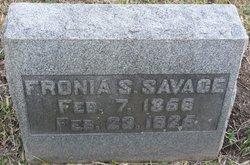 Fronia <I>Smith</I> Savage