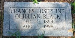 Frances Josephine <I>Quillian</I> Black