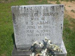 Addie Lee <I>Johnson</I> Adams