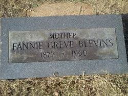 Fannie <I>Holliday</I> Greve Blevins