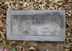 "Martha Jane ""Janie"" <I>Merrell</I> Surber"