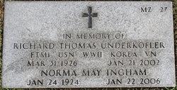Norma May Ingham Underkofler