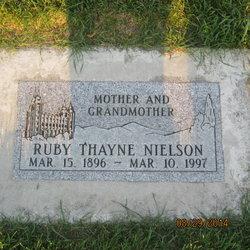 Ruby Charlotte <I>Thayne</I> Nielson