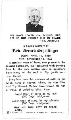 Rev Gerard Schellinger