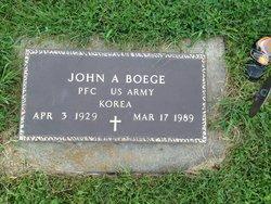 """John A """"Bud"""" Boege"""