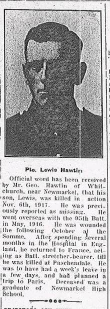 Private Lewis Hawtin
