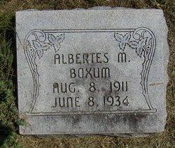 Albertes M Boxum