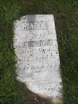 Mary A <I>Mouser</I> Bowman