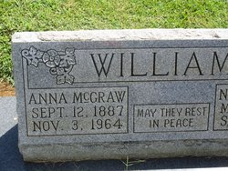 """Anna Lou """"Annie"""" <I>McGraw</I> Williams"""