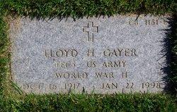 Lloyd H Gayer